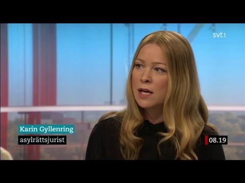 Asylbyråns advokat Karin Gyllenring i SVT om upphävda ID-kontroller