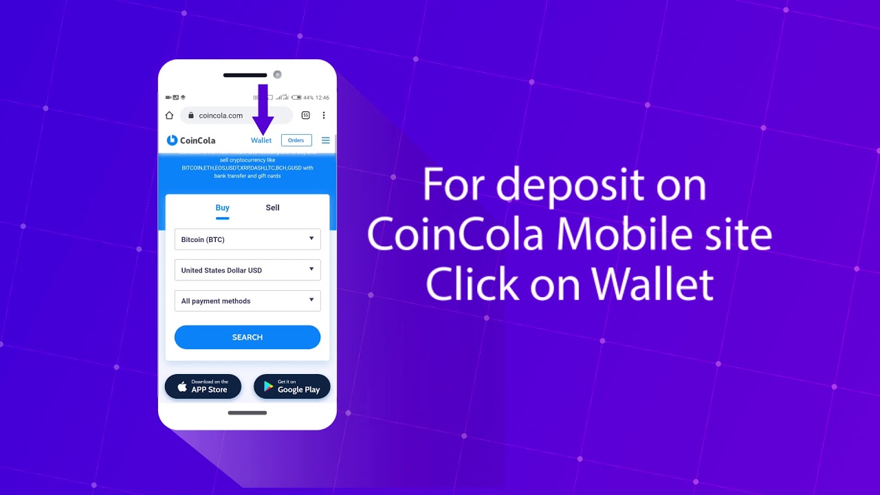 how to deposit into cryptocurrency wallet