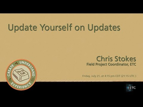 CUE 2017-Update Yourself on Updates