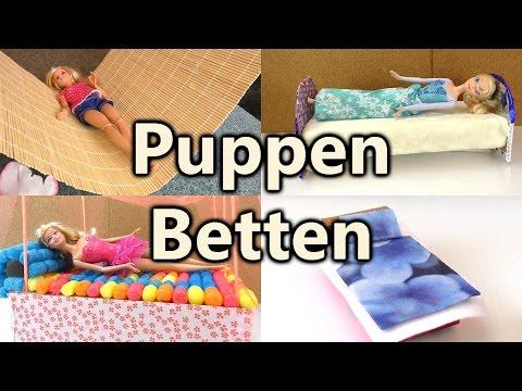 Puppen Betten Compilation   Möbel selber machen   für Playmobil und Barbie