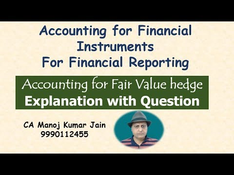 Accounting for Fair Value Hedge | Financial Instruments for CA Final Financial reporting