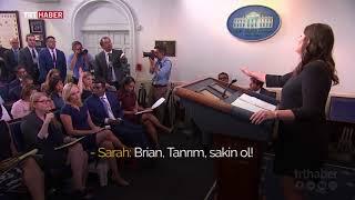 Beyaz Saray Sekreteri Sarah Sanders'ın zor anları
