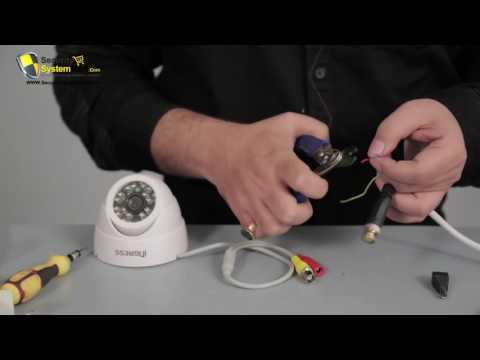 How to Install CCTV Camera & DVR with Wire & Connectors 1200*250