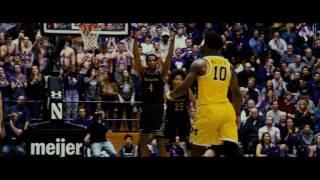 Men's Basketball - NU Win vs. Michigan (3/1/17)