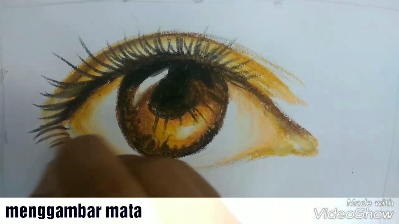 Cara Menggambar Dan Mewarnai Mata Dengan Crayon Titi Versi Lambat