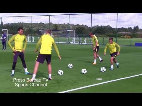 Tottenham Training pre Borussia Dortmund