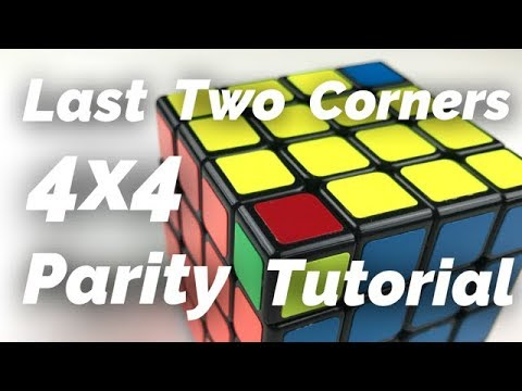 4x4 Last Two Corner Parity Solve - YouTube