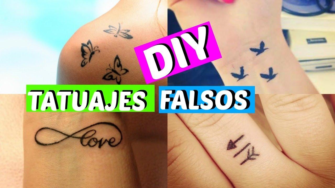 Diy Como Hacer Tatuajes Falsos En Casa Y Que Parezcan Reales Youtube