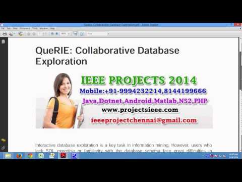 QueRIE Collaborative Database Exploration