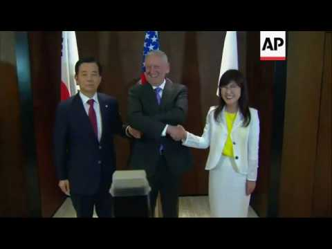 Mattis meets SKorean, Japanese defence ministers
