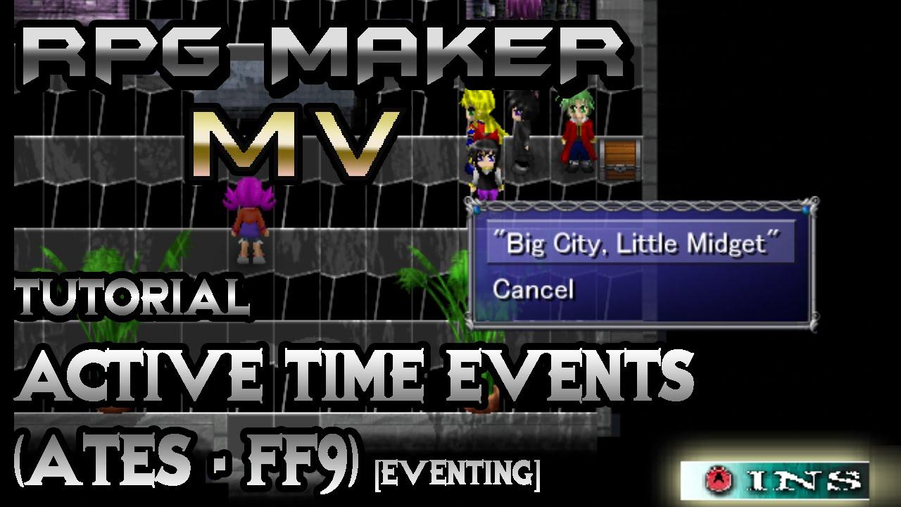 RPG Maker MV Tutorial: Active Time Events! [Eventing]