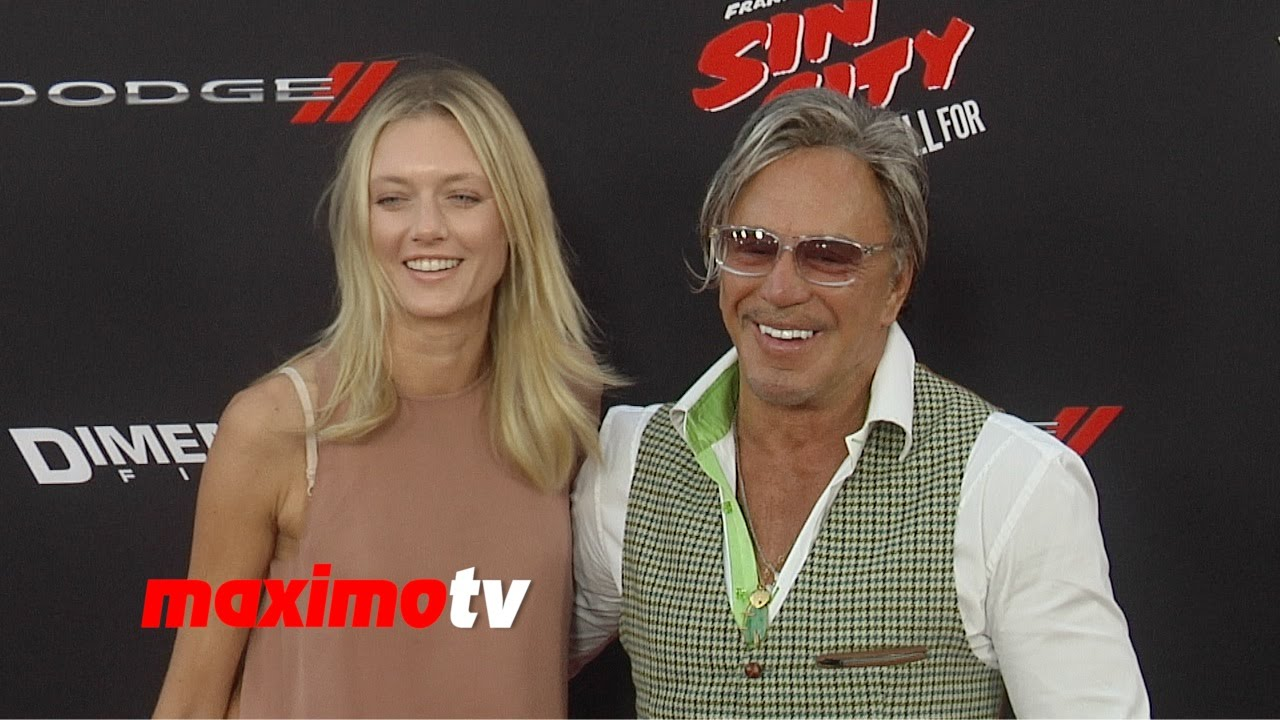 Mickey Rourke Anastassija Makarenko Sin City A Dame To Kill For La Premiere Youtube She has been in romantic relationship with famous hollywood actor mickey rourke for more than three years. mickey rourke anastassija makarenko sin city a dame to kill for la premiere