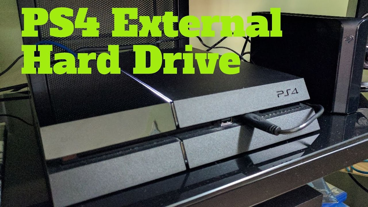 Ps4 External Hard Drive Unboxing And Setup Youtube