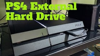 PS4 External Hard Drive Unboxing and Setup