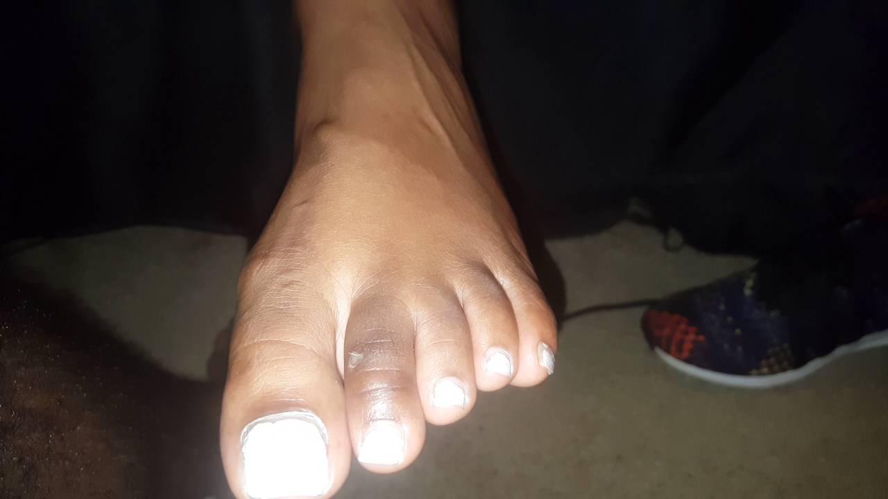 Black cock white feet
