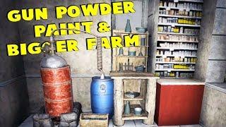 Gun Powder, Paint & Bigger Farm | 7 Days To Die - The Wait For Alpha 17 | Part 21