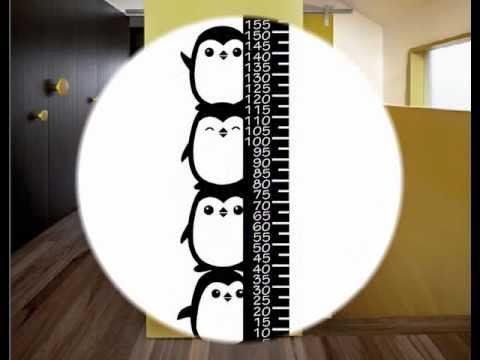 Medidores infantiles de vinilo adhesivo youtube - Vinilos decorativos para pared infantiles ...