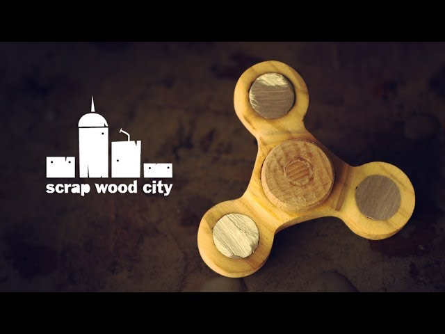 Making an experimental wooden fidget spinner