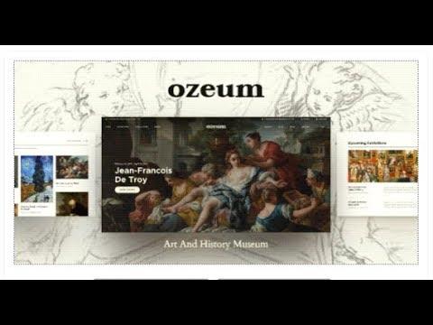 Ozeum   Art Gallery and Museum WordPress Theme   Themeforest Templates