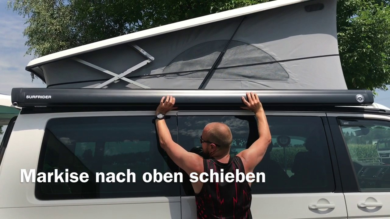 vw t6 california markise entfernen youtube. Black Bedroom Furniture Sets. Home Design Ideas