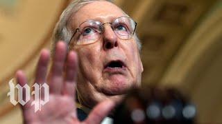 McConnell again demurs on gun legislation, says Senate is in a 'holding pattern'