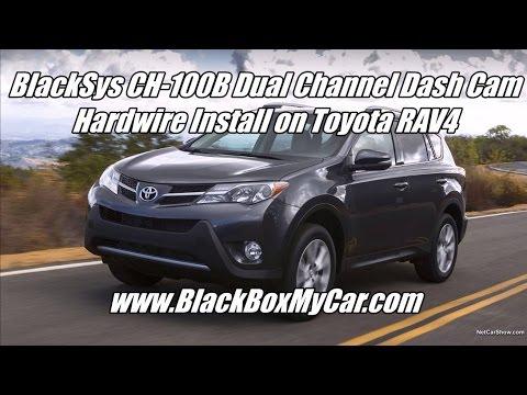 How To Install 2 Channel BlackSys CH-100B Dashcam - Toyota RAV4