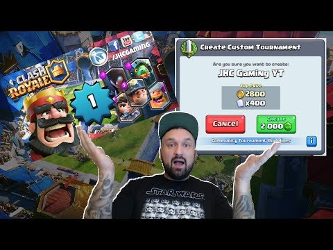 New account, LV1, 2000 GEMS tournament, triple elixir challenge (in that order) - CLASH ROYALE