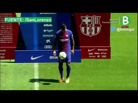 La calidad de Paulinho haciendo jueguitos en su presentación