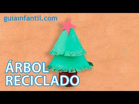 Rbol de navidad manualidad reciclada para ni os youtube - Arbol de navidad para ninos ...