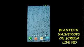 Beautiful Raindrops on Screen Live HD