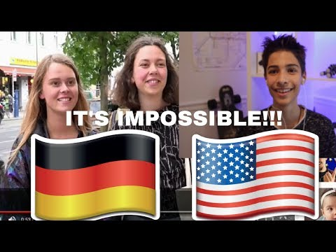 ENGLISH WORDS GERMANS CAN'T SAY