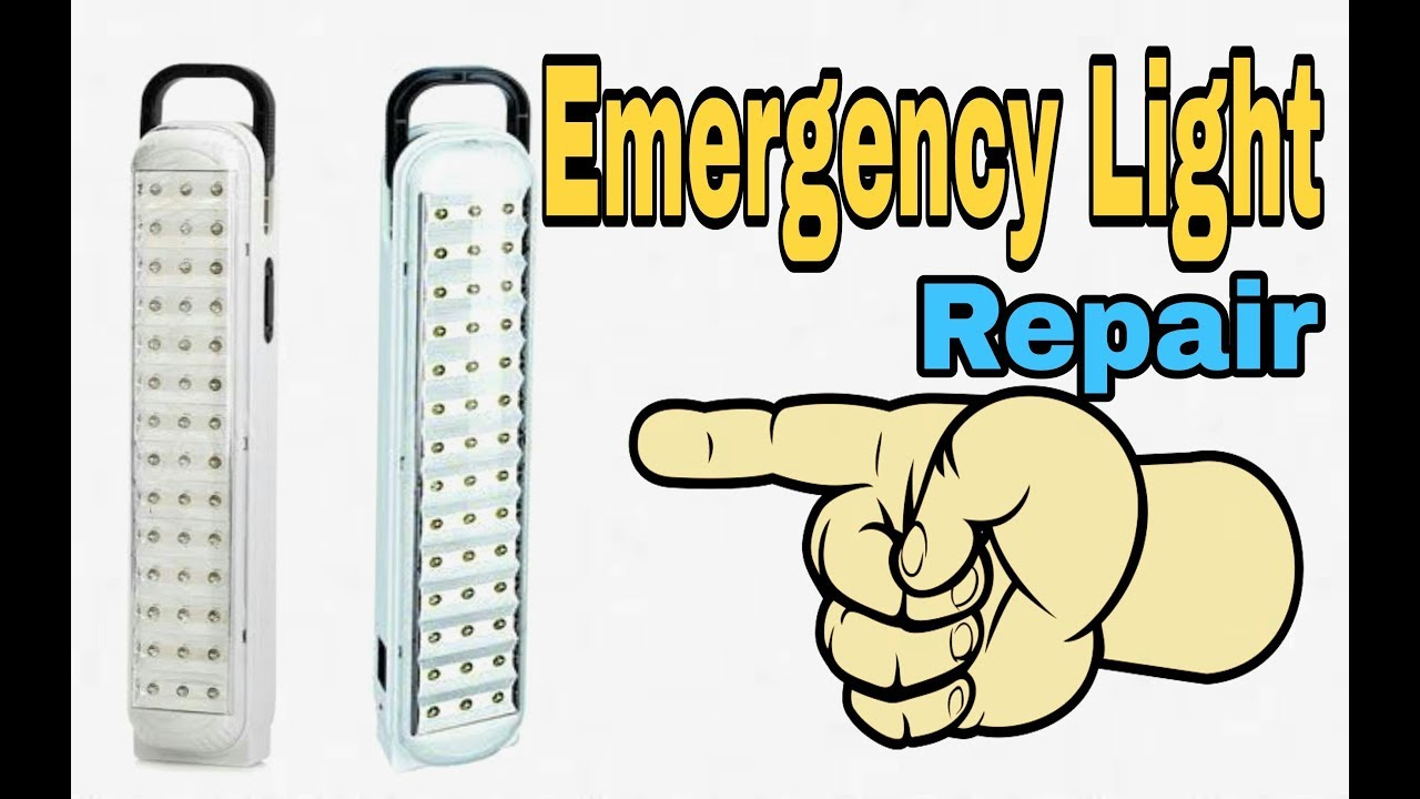 how to repair emergency light circuit and battery problem at home rk electronics korba  [ 1280 x 720 Pixel ]