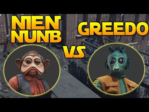 GREEDO VS NIEN NUNB - WHO\'S BEST? Star Wars Battlefront Outer Rim DLC