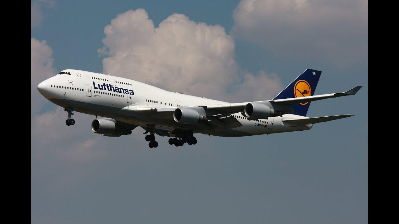 lufthansa boeing 747 400 landing at toronto pearson international airport hd youtube. Black Bedroom Furniture Sets. Home Design Ideas