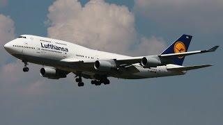 Lufthansa Boeing 747-400 Landing at Toronto Pearson International Airport [HD]