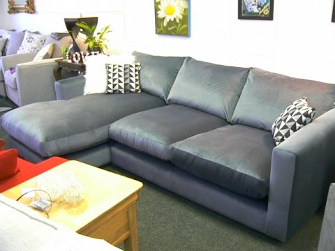 New Ex Debenhams Slouchy Left Hand Grey Velvet Corner Sofa Only 899 1 2 The Rrp Of 1820