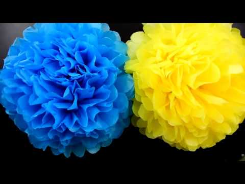 DIY Tissue paper flowers for decoration | Birthday decoration ideas | Paper flowers| Pom pom flowers