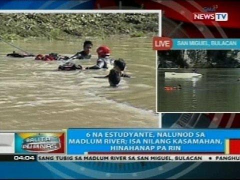 6 na estudyante ng Bulacan State University, nalunod sa ilog sa San Miguel, Bulacan