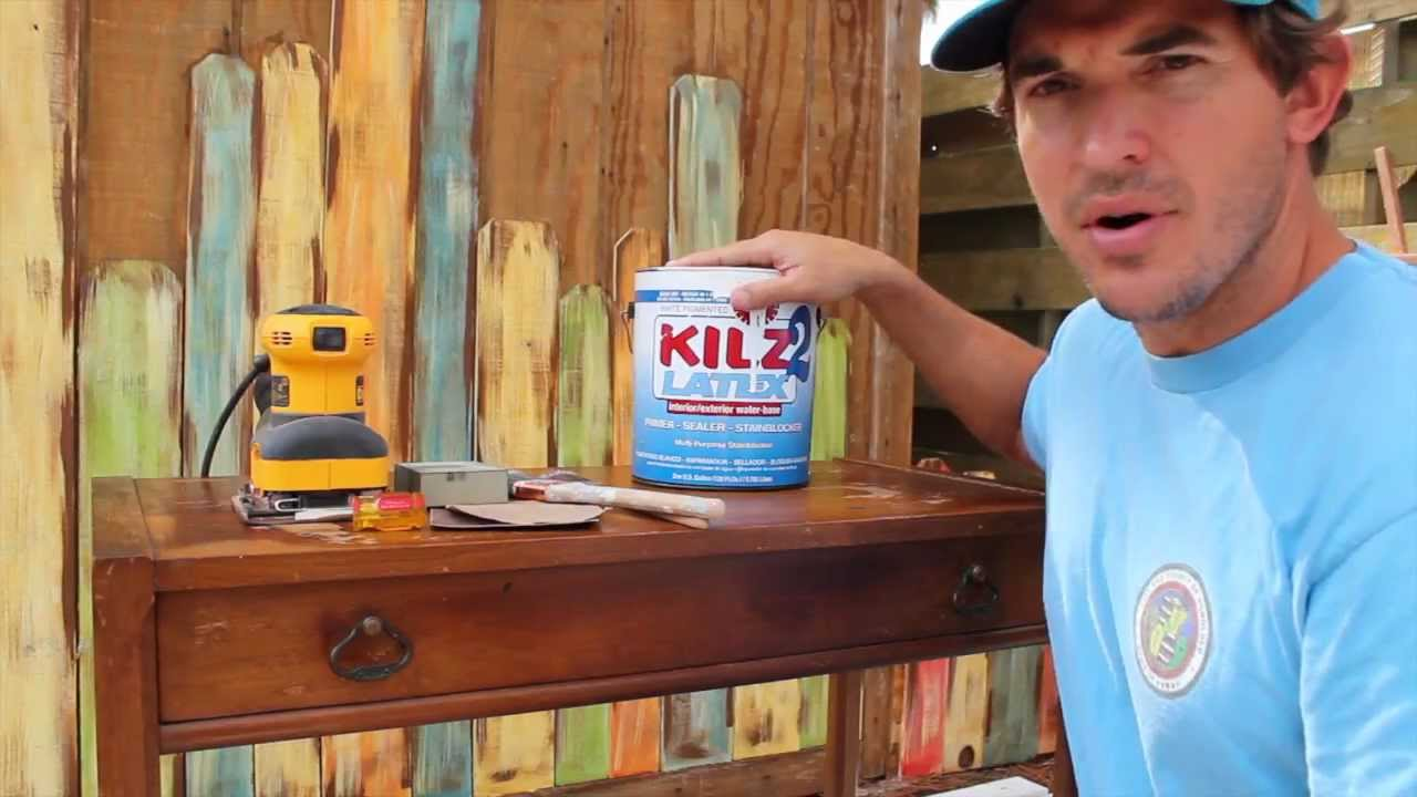 How-to Paint/Distress/Antique Furniture: Project 3 painted blue,  refinished, and distressed - YouTube - How-to Paint/Distress/Antique Furniture: Project 3 Painted Blue