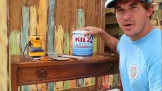 How-to Paint/distress/antique Furniture: Project 3 Painted Blue, Refinished, And Distressed