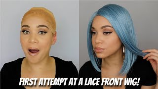 First Attempt at Putting on a Lace Front Wig 👀😰 | Kinda Flopped But Kinda Cute 😩| Lyasia in the City
