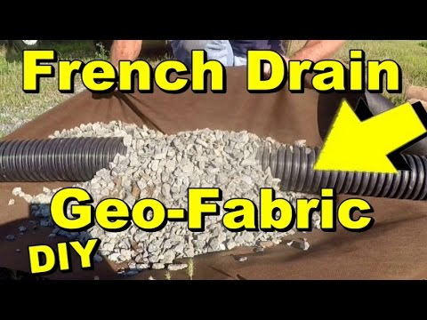 Geo Fabric and French Drains