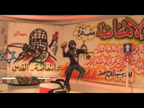 Al Aqsa Tv Is Decorated With Studio Hopes To Promote Attacks Against Israel Reuters Youtube