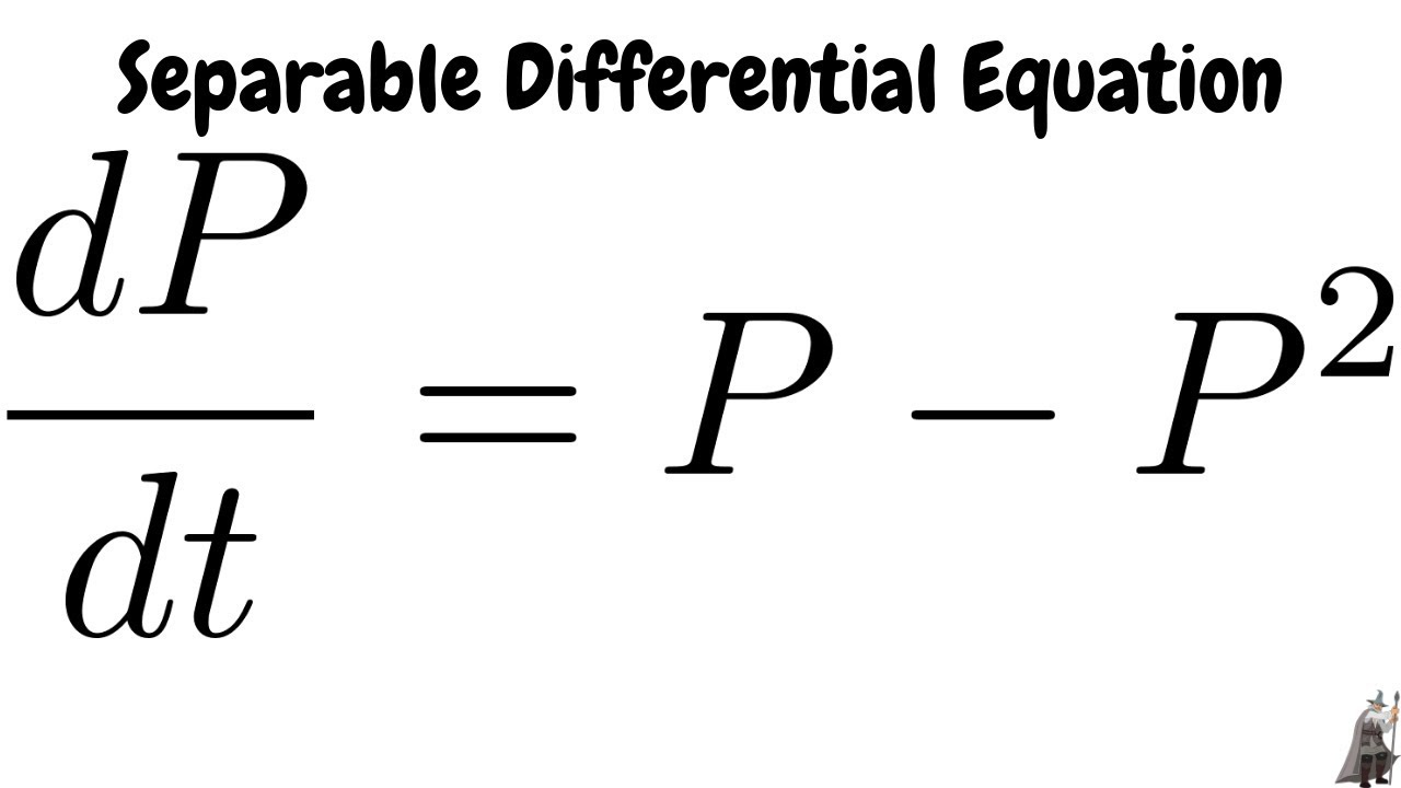 Solving the Separable Differential Equation dP/dt = P^2
