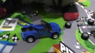 Lego blue car