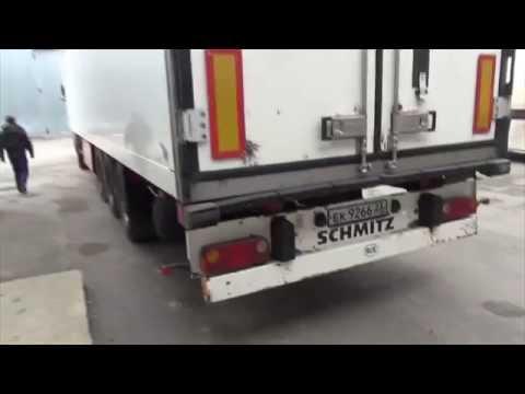 видео: Рефрижератор фура 20 тонн, полуприцеп внутри