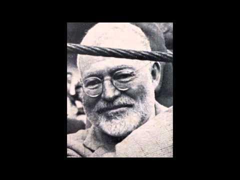 Ernest Hemingway. Reading.