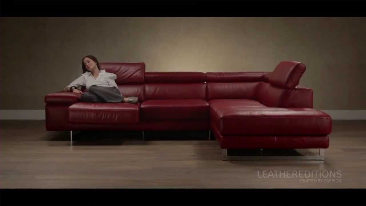 Sofa With Sliding Chaise And Ratchet Headrests B619 Leather Editions