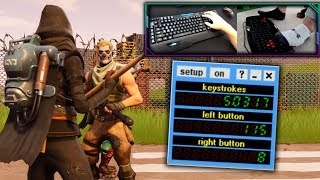 PRESSING OVER 50,000+ BUTTONS IN A SINGLE GAME OF FORTNITE! (USING MY HANDS & FEET!)