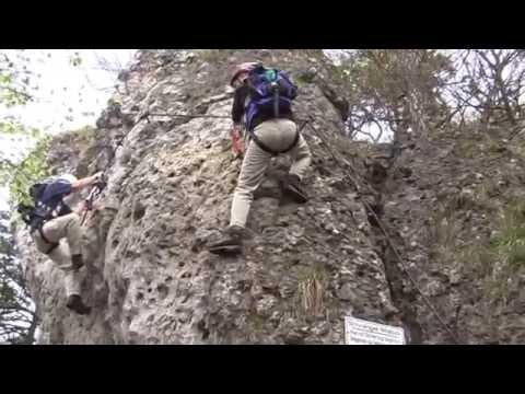 Klettersteig Franken : Höhenglücksteig youtube